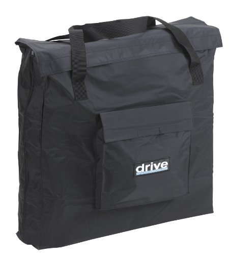 mobility power Carry Bag for Standard Style Transport Chairs, Black, 20