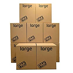 Pack of 10 Large Archive / General purpose storage boxes with open-side handles. Each Box Measures H55 x W46 x D46 cm Great storage solution - durable, stackable & can be collapsed and reused multiple times. Easy set-up! Ideal for moving home, storin...