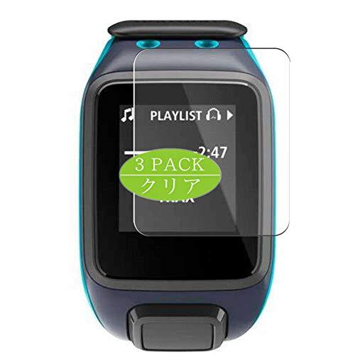 VacFun 3 Piezas Claro Protector de Pantalla, compatible con TomTom Runner 2 Music, Screen Protector Película Protectora(Not Cristal Templado)