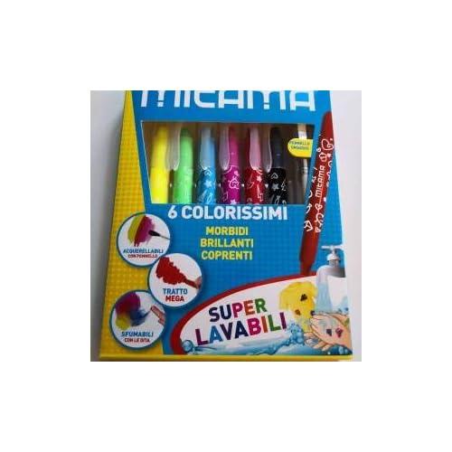 Mitama 62860 6 Super Soft Mega Pastelli Colorissimo, confezione da 20
