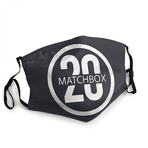 Outdoor Unisex Face Mask Matchbox Twenty Logo Reusable Breathable Anti-Dust Mouth Mask Black