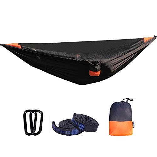 ZHHAOXINPA hangmat met muskietennet 2 persoons camping, ultralicht draagbaar winddicht, anti-muggen, slaapslaapbank met net voor buiten, wandelen, backpacking, reizen