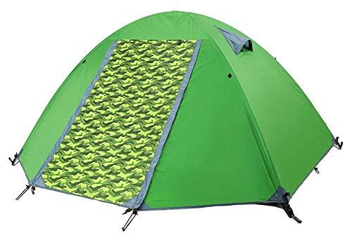pwmunf Tienda al Aire Libre, Mochilero Impermeable liviano Tent-Aluminio Pole 4 Temporada Senderismo Tienda Tienda Ultraligera Tienda de Escalada (Color : Green)