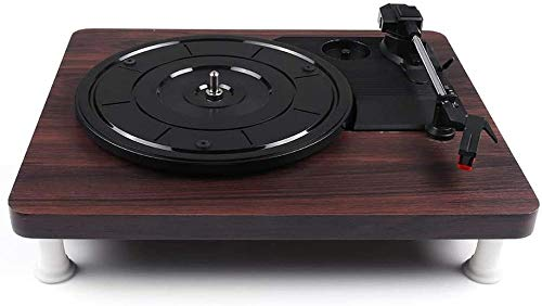 TYX-SS Record Player Gramophone Turntable Disc Vinyl Audio R/L 3.5Mm Output Out USB DC 5V Wood Color Can Play 7/10/12 Inch Vinyl Records