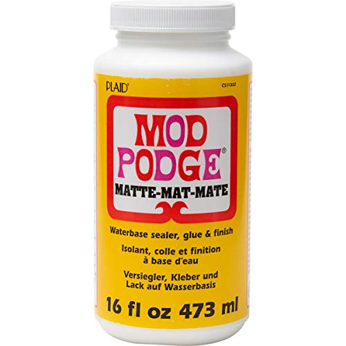 Mod Podge CS11302 Waterbase Sealer, Glue and Finish, 16 oz, Matte