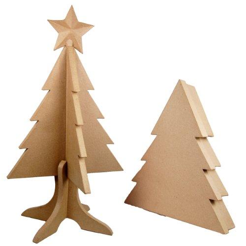 Country Love Crafts - Albero di Natale Pieghevole in cartapesta con Scatola