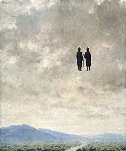 A Arte da Conversação (1963) de René Magritte - 60x71 - Tela Canvas Para Quadro