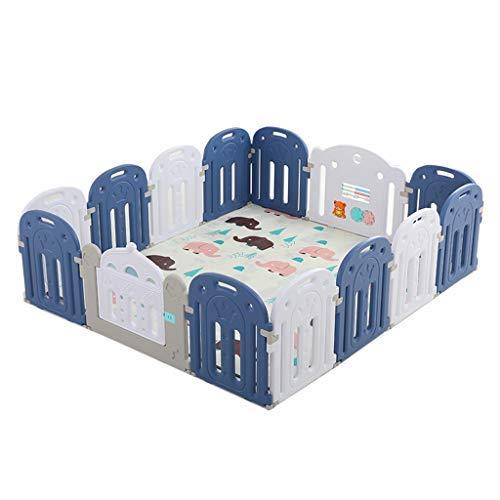 no brand Parcs for Enfants, bébé Peut y Jouer, Design Pliable Maison enfants'S sécurité Balle en Plastique Pit Parcs Poussettes Tente (Color : Blue)