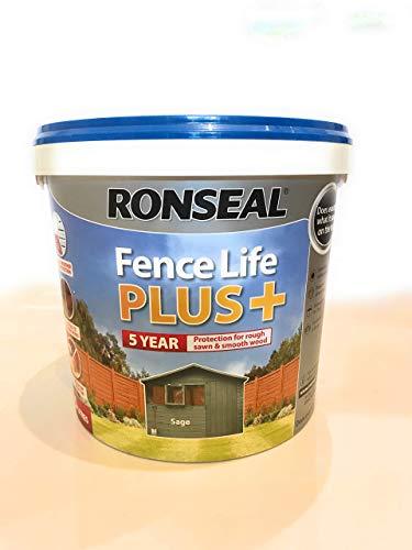 Ronseal RSLFLPPSA5L 5 Litre Fence Life Plus Paint - Sage