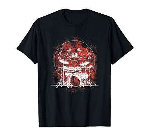Da Vinci Schlagzeuger Schlagzeug Drummer Rock Musik Geschenk T-Shirt