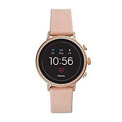 professional Fossil Gen 4 Venture HR Ladies Smartwatch, Stainless Steel and Leather Touch Screen,…