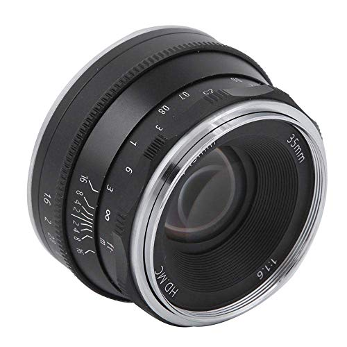 Lente de 35 mm f1.6 Foco Fijo de Alta definición sin Espejo for Nikon Z6 Z7 Z50, Enfoque Manual Medio capítulo de la Lente, Metal y Material óptico de Cristal (Negro) ZHNGHENG (Color : Black)