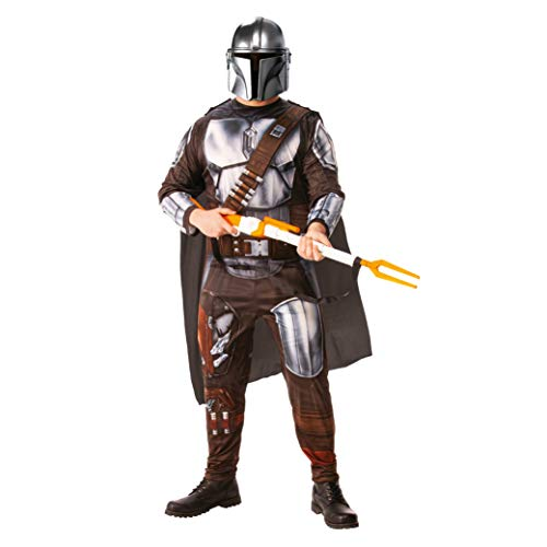 Rubies- Rubie'S Official Disney Star Wars The Mandalorian Adult Costume, Mens Fancy Dress, Size Standard Disfraces, Multicolor, Extra Large (300930-XL)