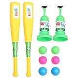 Tomaibaby 10 Unids / Set Béisbol Juguete Golf Juguete Niños Juego de Golf Béisbol Tenis Máquina de Lanzamiento Lanzador de Béisbol Automático Niños Niños Pequeños Juguetes Al Aire Libre
