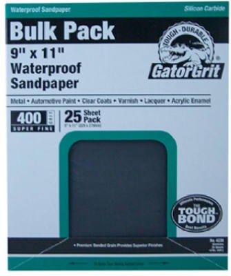 Ali Industries 4241 25-Count 9 X 11-Inch 220-Grit Waterproof Sandpaper - Quantity 10 Sandpaper, Waterproof -