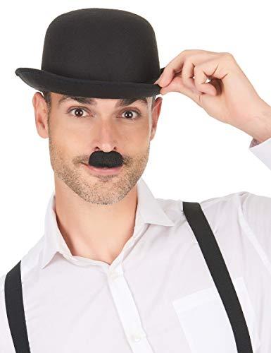 COOLMP Lot de 6 - Moustache Charlie Chaplin Noire Adulte - Taille Unique - Accessoires de fête, Costume, déguisement, Jeux, Jouets