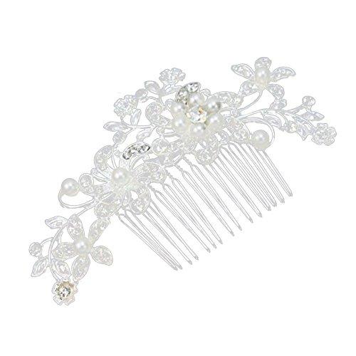 Contever® Cheveux Décoration de la Femme Fleur Faux Perles en épingle à Cheveux pour Bridal Mariée Party