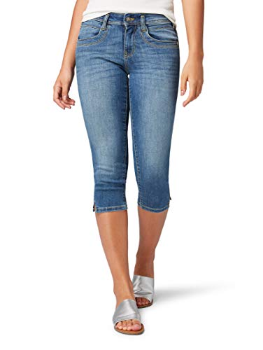 TOM TAILOR Damen Jeanshosen Alexa Slim Capri Hose Light Stone wash Denim,31