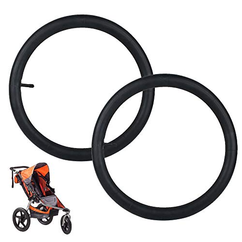 16'' x 1.5/1.75/1.95/2.125 Rear Wheel Replacement Inner Tubes (2-Pack) for Bob Revolution (SE/Flex/Pro/Stroller Strides/Ironman), Baby Trend Expedition, Baby Jogger, Joovy Zoom
