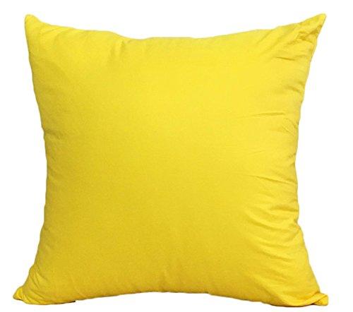 MSYOU algodón Almohada Lanzamiento Almohada Funda de cojín Amarillo Fácil Lumbar cojín de sofá Funda de Almohada Decorativa Auto Almohada ( Peces X 45cm )