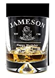 Cr8AGift Engraved/Personalized New Jameson Irish Whiskey Design Dimple Whisky Glass Tumbler (Cardboard Gift Box)