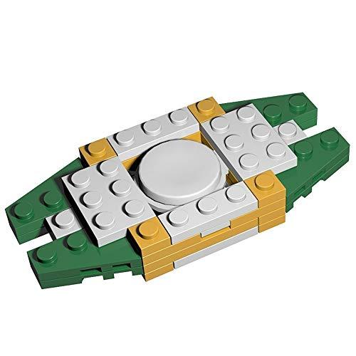PPITVEQ Gyro Toy Bout du Doigt Building Block Main Spinner Bricolage Assemblée Extra Long Spin Temps Tuer Main Spinner Temps à soulager l'anxiété Anti-Stress Jouets (Color : A)