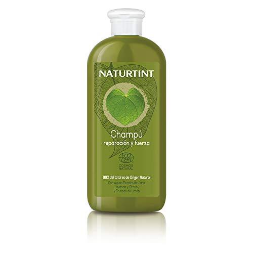 Naturtint Eco Champú Reparación y Fuerza - Nutre, Repara y Fortalece, Cabello Hidratado y con Brillo, 99% Ingredientes Naturales, Sin Siliconas ni Parabenos - 330 ml