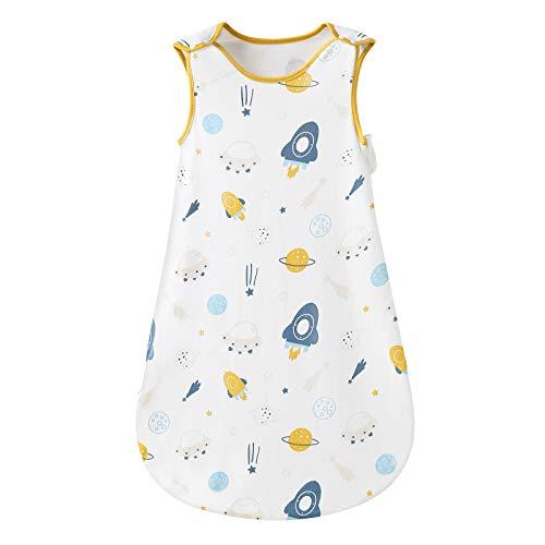 Mosebears Baby schlafsack Sommer, Cute Animal Cartoon waschbare Decke 0,5 tog für Mädchen und Jungen, tragbare Decke ohne Ärmel Schlafsac