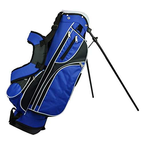 CHENG BAG Sac de Golf, Imperméable Extérieur Grande Capacité Antidérapant Base en Caoutchouc 4 Vérins Indépendants pour Unisexe Les Enfants Débutant (Couleur : Bleu, Taille : 76 * 22 * 28cm)