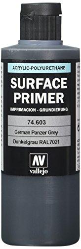 Vallejo- Surface Primer poliuretanico, 200 ml, Colore Grigio, VJ74603