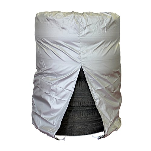 ABN Car Tire Cover, Medium 25in x 38in, 4 Tires Up to 25in Diameter – Tire Storage Bag Seasonal Spare Snow Tire Bag