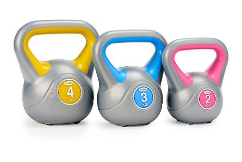 York Fitness 2, 3 and 4 kg Vinyl Kettlebell Weight Set
