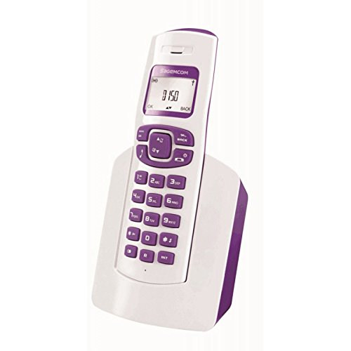 Sagemcom D150 Telefono Cordless DECT, Bianco/Porpora