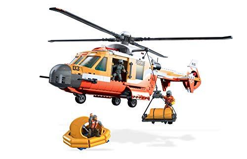 Mega Contstrux Probuilder Coast Guard Helicopter Resue Playset