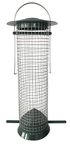Windhager Vogelfuttersilo Easy, Vogelhaus, Futterhaus, Vogelhäuschen, Vogelfutterstation zum Aufhängen, Vogel-Silo, 06869, grün