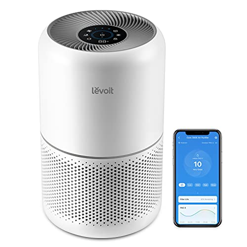 LEVOIT Purificador de Aire con Filtro HEPA H13, CADR 195m³/h a 41㎡, Compatible con Alexa y APP, Auto Modo Inteligente y 22dB Modo de Sueño, Elimina 99,97% de Alergia Polen Ácaros Humo Pelo de Mascota