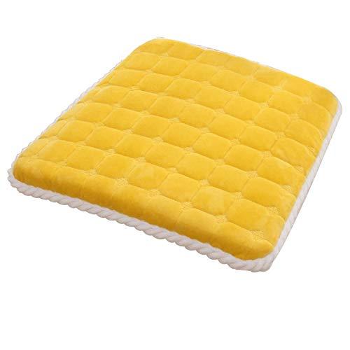 Kissen - Das quadratische Plüschkissen ist einteiliger, abnehmbarer und waschbarer Sofa-Stuhl-Sitzkissen rutschfest Sattel-Sattelstuhlkissenkissen, es gibt 6 Farben Ein Kissen, mit dem Sie bequemer si
