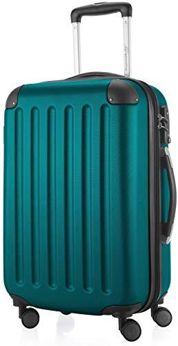 Hauptstadtkoffer, Spree, trolley rigido con 4 ruote, TSA (S, M e L) + cinghia per bagagli, blu acqua (Blu) - HK20-1203-AQ+G