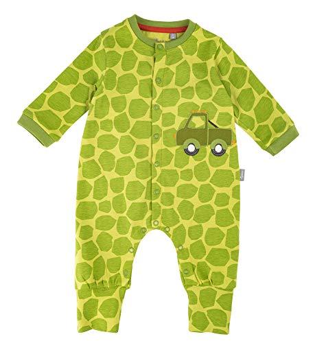 Sigikid Baby-Jungen Overall-Strampler-Schlafanzug Schlafstrampler, Grün (Green Oasis 397), (Herstellergröße: 74)