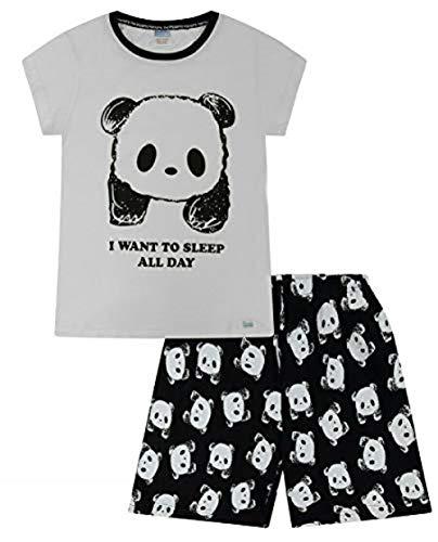The PyjamaFactory Pyjama für Mädchen, mit Aufschrift