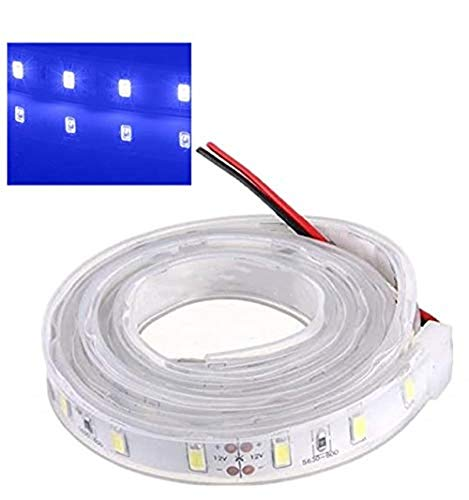 MASUNN 1M 5630 SMD LED Silicon Strip Luce Blu Impermeabile 12V
