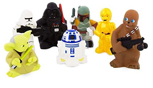 Disney Star Wars Squeeze Toy Set in Vinyl Storage Bag - 7 Piece