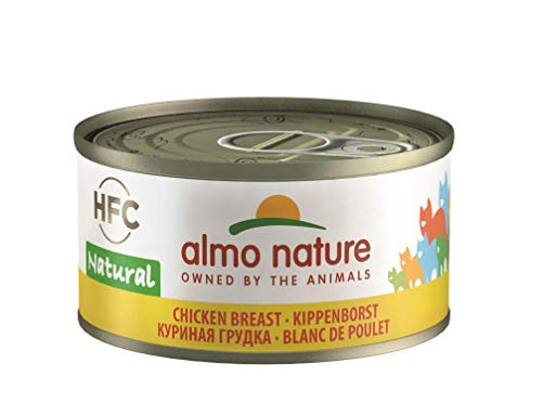 almo nature Hfc Naturale – Wet Cat Food con Petto di Pollo (Confezione da 24 x 70 g Tins)