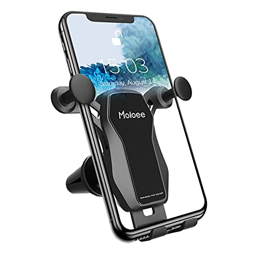 Phone Mount for Car, Car Phone Holder for Car Air Vent, Universal Cell Phone Holders with Clip, Compatible with iPhone 12 11 Pro, Samsung and More