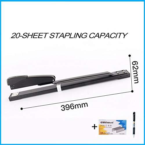 Nieter De lange arm nietmachine, 50 vellen capaciteit, 300 mm koel diepte, zwart - lak sleek lichaam, comfortabel te bedienen ++ 20 Sheet Capacity