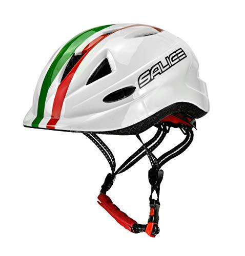 SALICE - Casco de Bicicleta Junior TG.46-54 Blanco Italia Unisex para niño