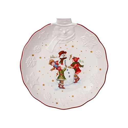Villeroy & Boch Toys Fantasy Schale mit Schneemann Relief, Premium Porzellan, weiß, bunt, Mittel