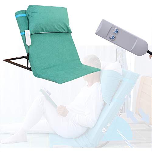 Enwebalay Hebebett 2~65 ° ZurüCk, Seniorenbett Elektrisch Verstellbar, Pflegebett Atmungsaktiv und Bequem, Verdickter Rahmen,Grün
