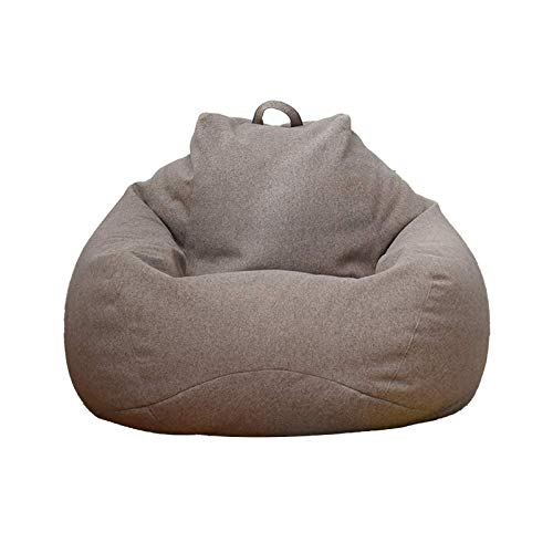 BANGSUN Sitzsack / Sessel, großer Memory-Schaum, weicher Sofabezug, Leinenstoff, grau, groß