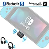 Friencity Bluetooth Audio Transmitter Adapter for Nintendo Switch PS4, USB Type-C Wireless Dongle